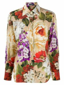Dolce & Gabbana rose print shirt - NEUTRALS
