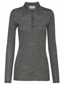 Prada ribbed polo shirt - Grey