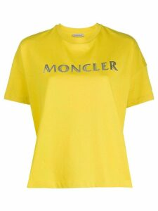 Moncler logo printed T-shirt - Yellow