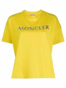 Moncler logo printed T-shirt - Yellow