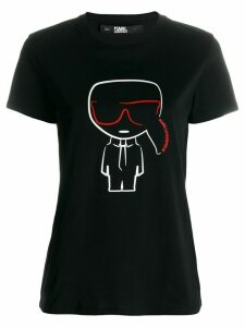 Karl Lagerfeld Ikonik Karl outline T-shirt - Black