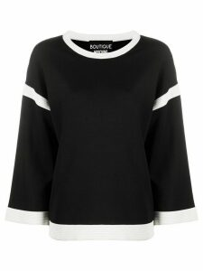Boutique Moschino knitted two tone jumper - Black