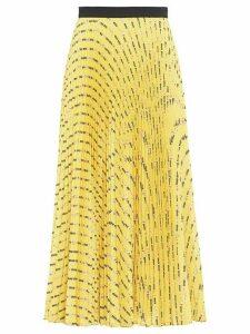 Miu Miu Miu Miu Flower print pleated skirt - Yellow