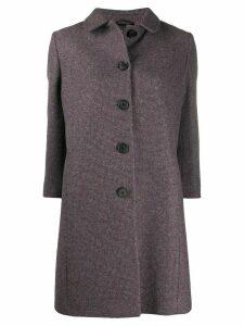Miu Miu cropped sleeves single-breasted coat - Grey