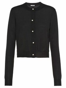 Miu Miu fine knit cardigan - Black
