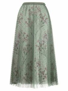 RedValentino floral print tulle skirt - Green