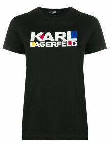Karl Lagerfeld Bauhaus logo T-shirt - Black