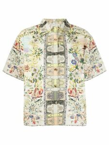 Etro short sleeve floral print shirt - NEUTRALS