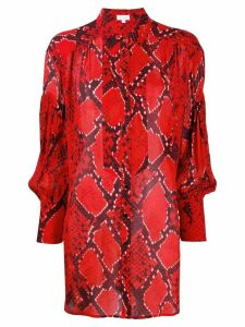 Lala Berlin snakeskin print oversized shirt - Red
