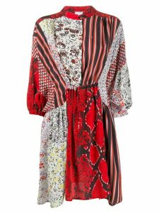 Lala Berlin patchwork shift dress - White