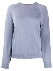Peserico long sleeve ribbed-knit sweater - Blue