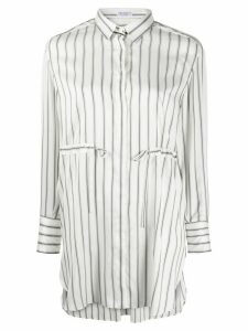 Brunello Cucinelli striped longline shirt - White