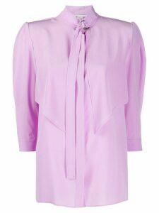 Stella McCartney tie detail shirt - PURPLE