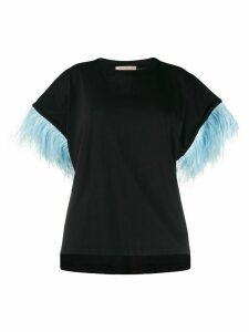 Christopher Kane feather embellished T-shirt - Black