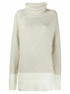 Joseph oversized roll-neck sweater - NEUTRALS