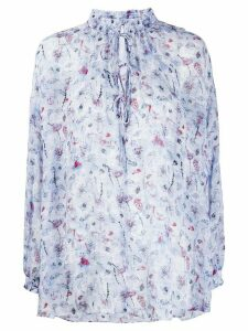 IRO floral embroidered blouse - Blue