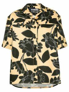 Jacquemus floral print shirt - NEUTRALS