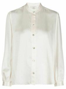 Vince silk mandarin collar shirt - NEUTRALS