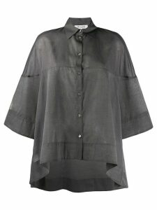 BI494 sheer oversized shirt - Grey