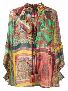 Etro Patchwork print gauze shirt - Red