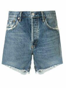 AGOLDE mid rise denim shorts - Blue
