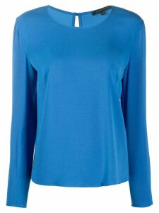Patrizia Pepe long-sleeve fitted top - Blue