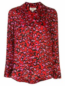 L'Agence Nina leopard print blouse - Red