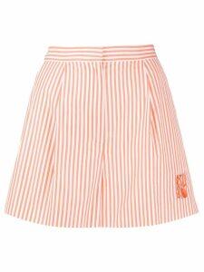 Kenzo high-waisted striped shorts - ORANGE