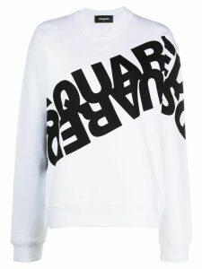 Dsquared2 mirrored logo sweatshirt - White