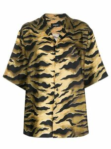 Dsquared2 tiger print boyfriend shirt - Green