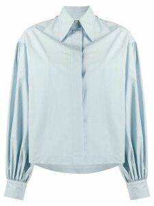 Deveaux balloon sleeve shirt - Blue