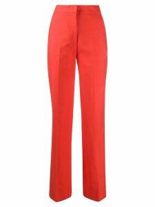 Erika Cavallini high-waisted straight-leg trousers - ORANGE