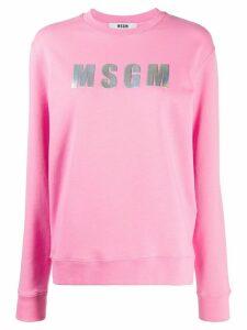 MSGM logo patch sweatshirt - PINK