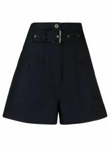 3.1 Phillip Lim high-waisted belted shorts - Blue