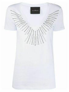 John Richmond studded V-neck T-shirt - White