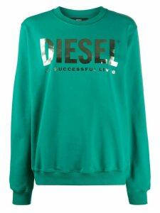 Diesel logo print sweatshirt - Green