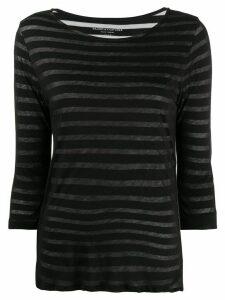 Majestic Filatures striped cotton T-shirt - Black