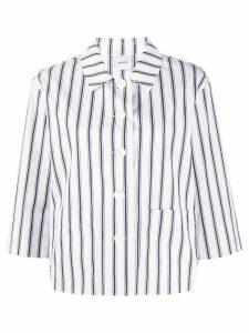 Aspesi striped print shirt - White