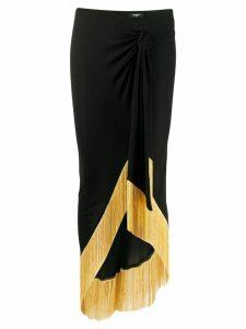Balmain asymmetric fringe skirt - Black