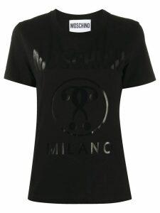 Moschino Double Question Mark print T-shirt - Black