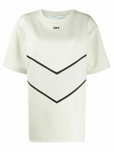 Off-White scuba style short-sleeved top - NEUTRALS