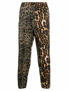 Pierre-Louis Mascia silk leopard print trousers - Green