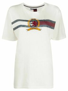 Hilfiger Collection embroidered branded T-shirt - White