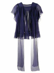 Sofie D'hoore Brava ruffle trim blouse - Blue
