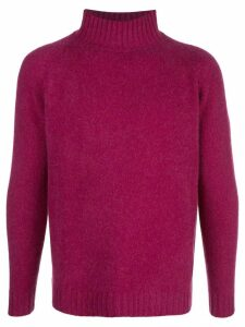The Elder Statesman Highland turtleneck jumper - PURPLE