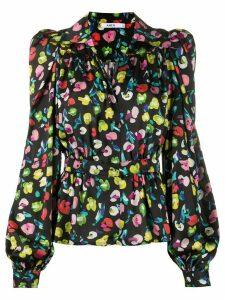 Amen wrap style blouse - Black