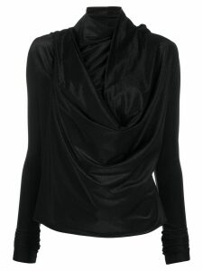 Rick Owens Lilies draped asymmetric blouse - Black