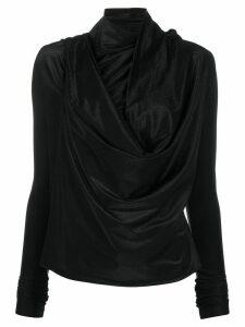 Rick Owens Lilies draped asymmetric blouse - Black