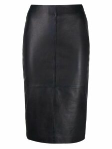 P.A.R.O.S.H. fitted midi skirt - Blue