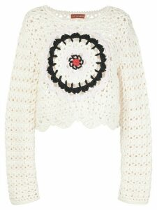 Altuzarra cropped crochet knit jumper - White
